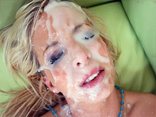 Bukkake porn videos – Huge loads of cum on girls faces. Multiple cumshot facials