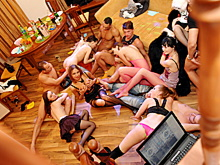 Group porn movies and extreme gang bang videos where you can witness bi and swinger orgies while also big ass threesomes and group fuck fest