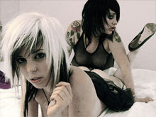 Naked emo girls porn in goth, tattooed, punk and emo XXX videos featuring emo teen girl with small tits  getting bent orally and fucked in real emo action