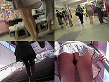 Upskirt videos and candid up skirt photos that will fuel your imagination with erotic upskirt pussy in accidental voyeur upskirt scenes caught by nosy hunters