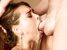 Deep Throat porn videos – oral skills, deep blowjobs with long dick, swallow and gagging