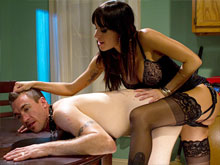 Free femdom videos where submissive cuckolds and naked slave boys are trampled and humiliated and punished by huge strapon mistresses