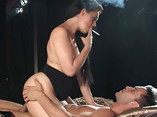 Smoking porn videos - hot girls sucking cock while smoking