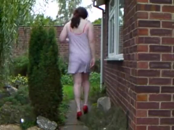 Hot Lucy Fox gets naked in the Garden