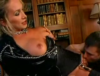 Blonde dominant tranny and guy banging after hot rimming