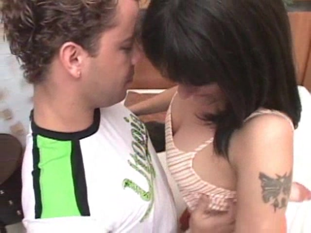 Girl fucks dude with strap-on while sucking tranny dick