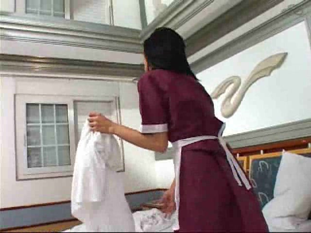 Lustful TS maid is burning with a sexual desire