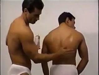 Shower, oil and undies