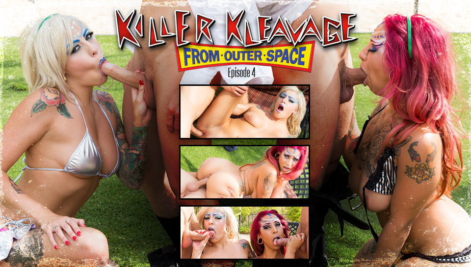 Mr.Pete & Veronica Rose & Vyxen Steel in Killer Kleavage From Outer Space - Episode 4 Scene