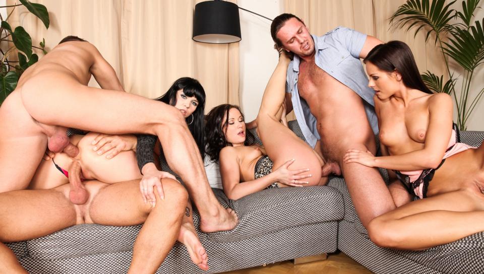 Kari, Ally Style, Niki Sweet, Steve Q, Tarzan in 5 Incredible Orgies, Scene #03