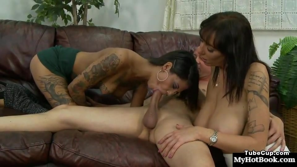 Incredible MILFs video with Tattoos,Threesomes scenes