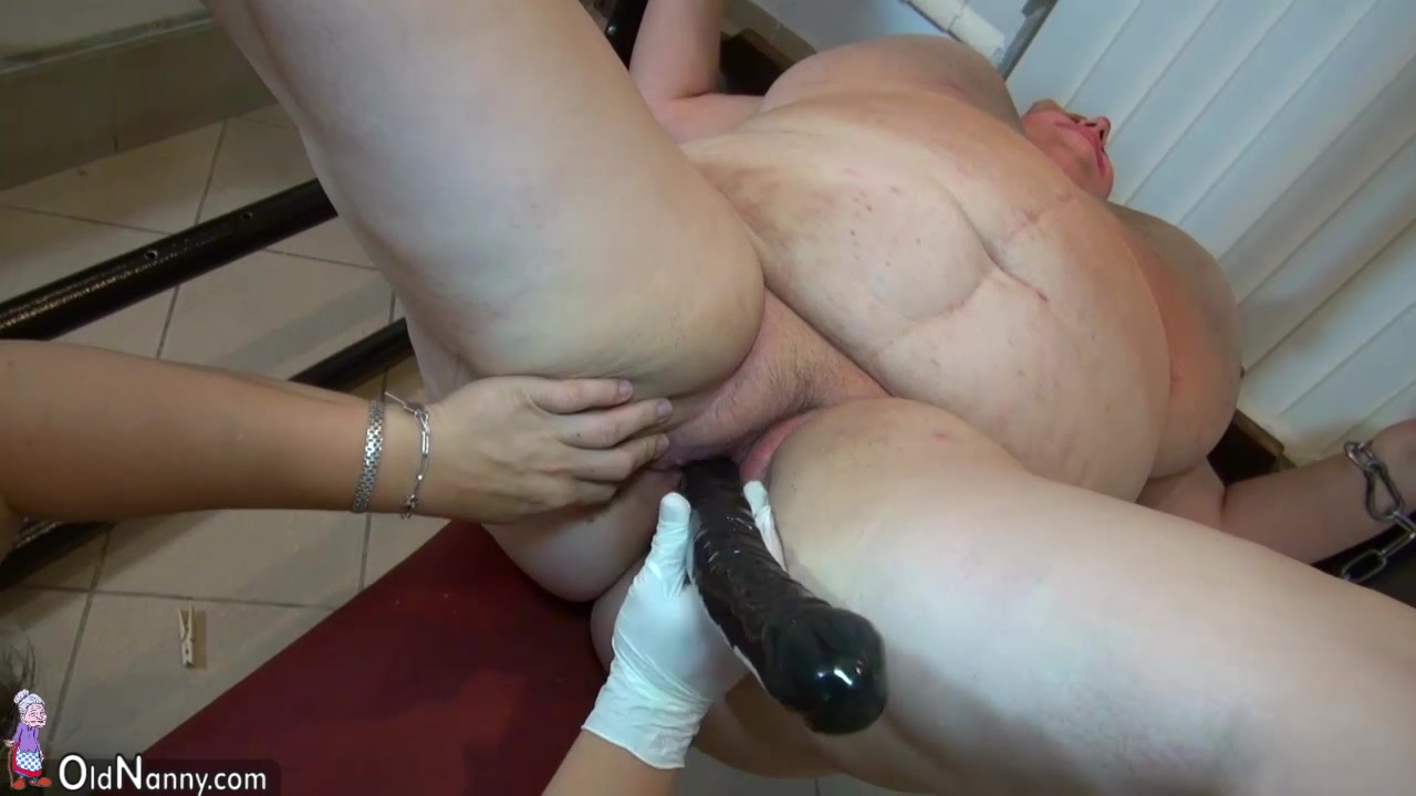 OldNanny Very chubby granny and Fat mature fucked with strapon, BDSM scene