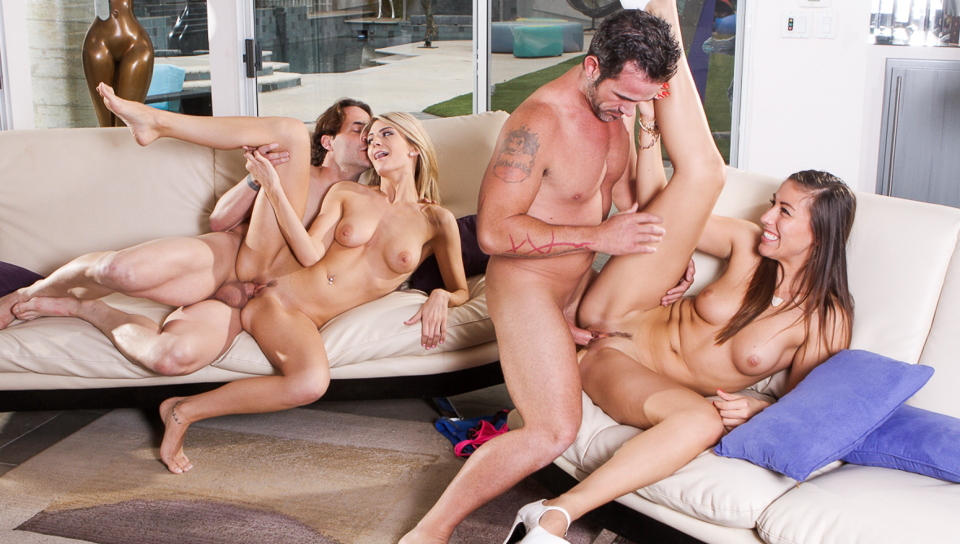 Rilynn Rae & Amanda Tate & Rusty Nails & Eric John in We Are Fucking With Our Neighbors #04, Scene #01