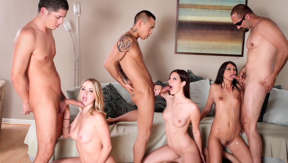 Cassandra Nix,Mira B,Mandy Armani,Alex Gonz,Eric Swiss,Keni Styles in Neighborhood Swingers #07, Scene #02