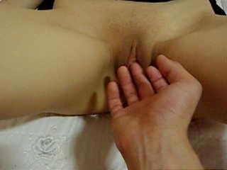 Bald Korean getting fingered and having sex