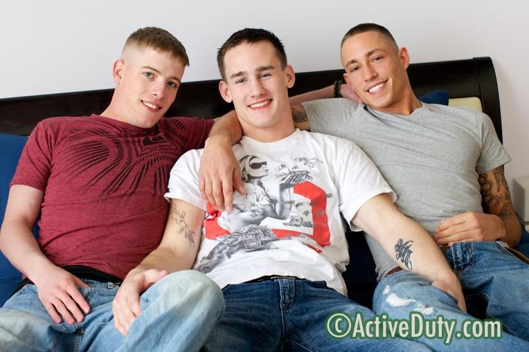 Axl, Diego & Evan Military Porn Video