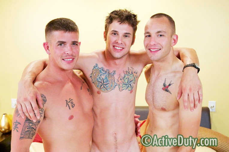 Bentley, Brian & Ethan Military Porn Video