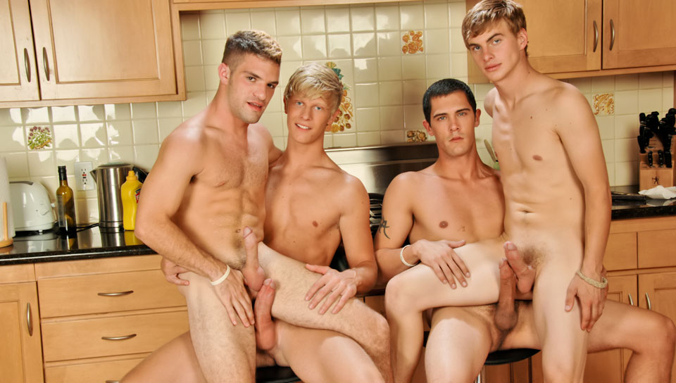 Adam Wirthmore & Alex Waters & Noah Brooks & Jay Kohl in The Twinks Gourmet XXX Video