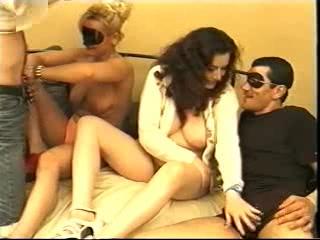 Italian orgy scene from a vintage porn
