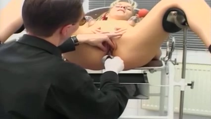 Naughty blonde enjoys some BDSM spanking