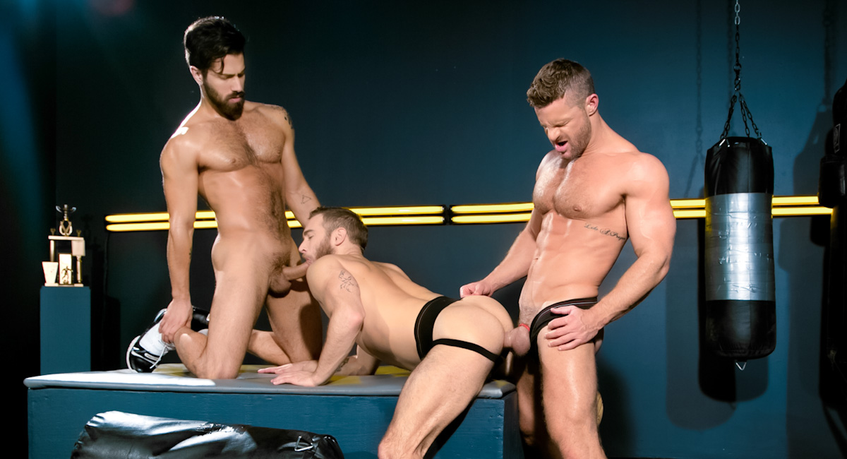 Shawn Wolfe & Landon Conrad & Adam Ramzi in Cock Fight! Ultimate Showdown Video