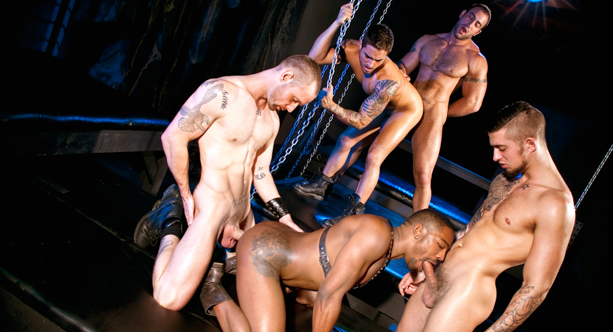 Mathew Mason & Troy Haydon & Spencer Reed & Bryce Star & Colin Black in Fucked Down - Five Man Orgy Part 02