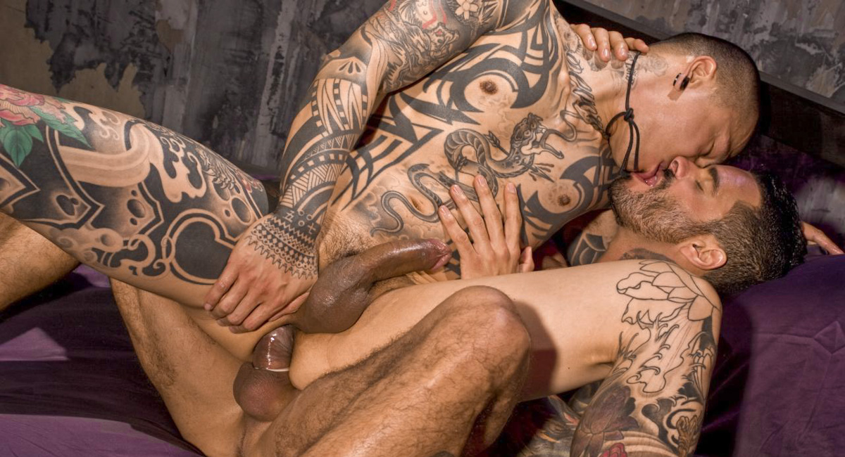 Alexsander Freitas & Damian Dragon in Muscle And Ink, Scene #01