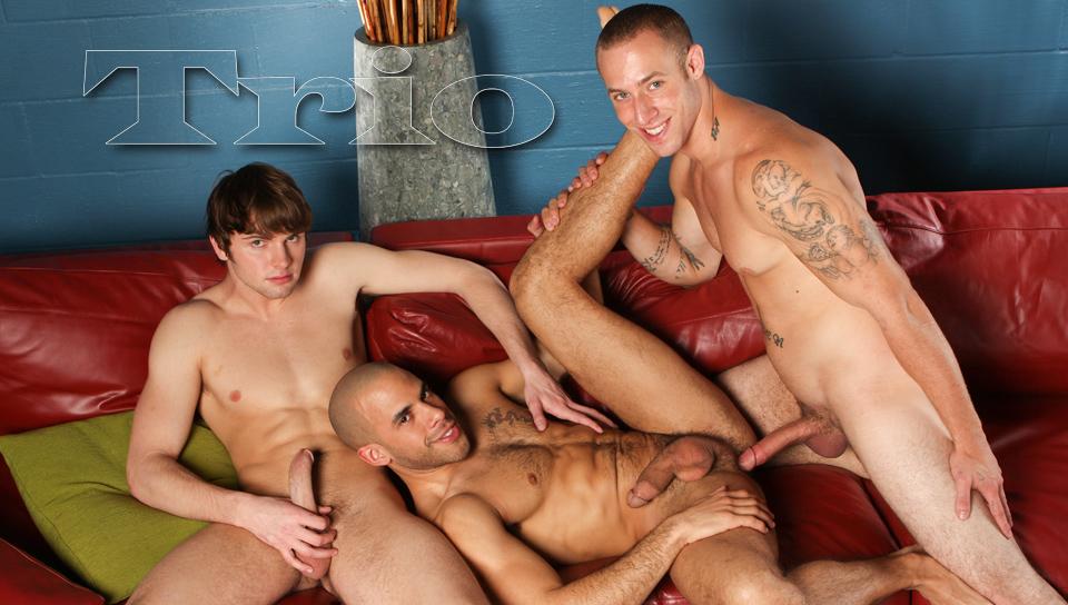 Austin Wilde & Angelo Romani & Campbell Stevens in TRIO XXX Video