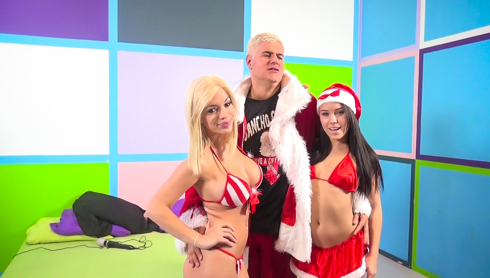 Bibi Noel,Megan Rain,Porno Dan in Megan Rains & Bibi Noel tag team Porno Dan Video