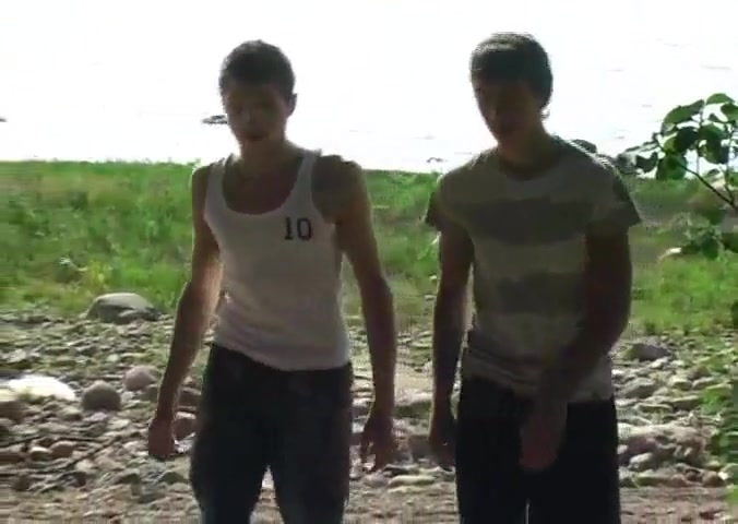 Two RussianTwink Boy&039s Bareback Outdoor Sex