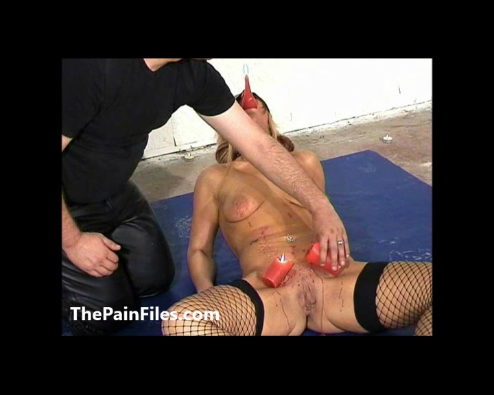 Crystel Leis bizarre anus hot waxing and blindfolded blondes hardcore burning punishment in the filthy bdsm dungeon