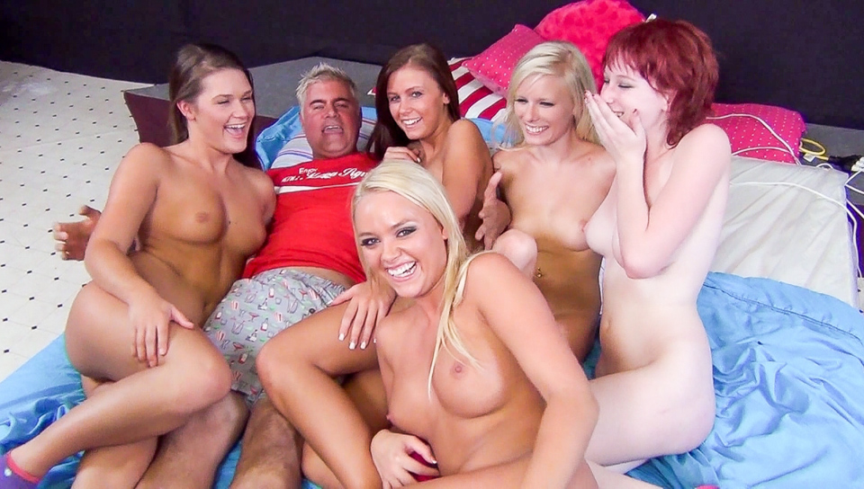 Five Floozy Females Fuck For Fun