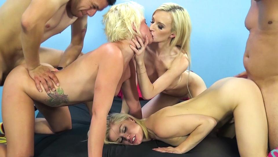 Stiff Pole For Three Stunning Blondes