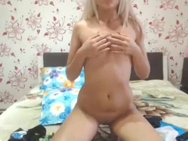 sweet blonde with a smooth pussy masturbates erotic