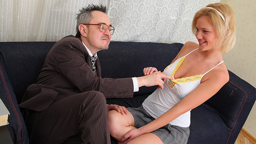 trickyoldteacher - teacher gets blowjob and fucks sexy sexy student's pussy