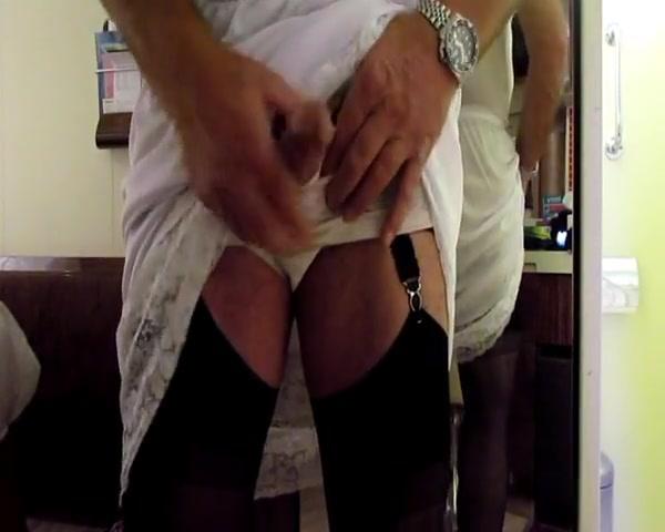 Wife catches me in my nylon slips