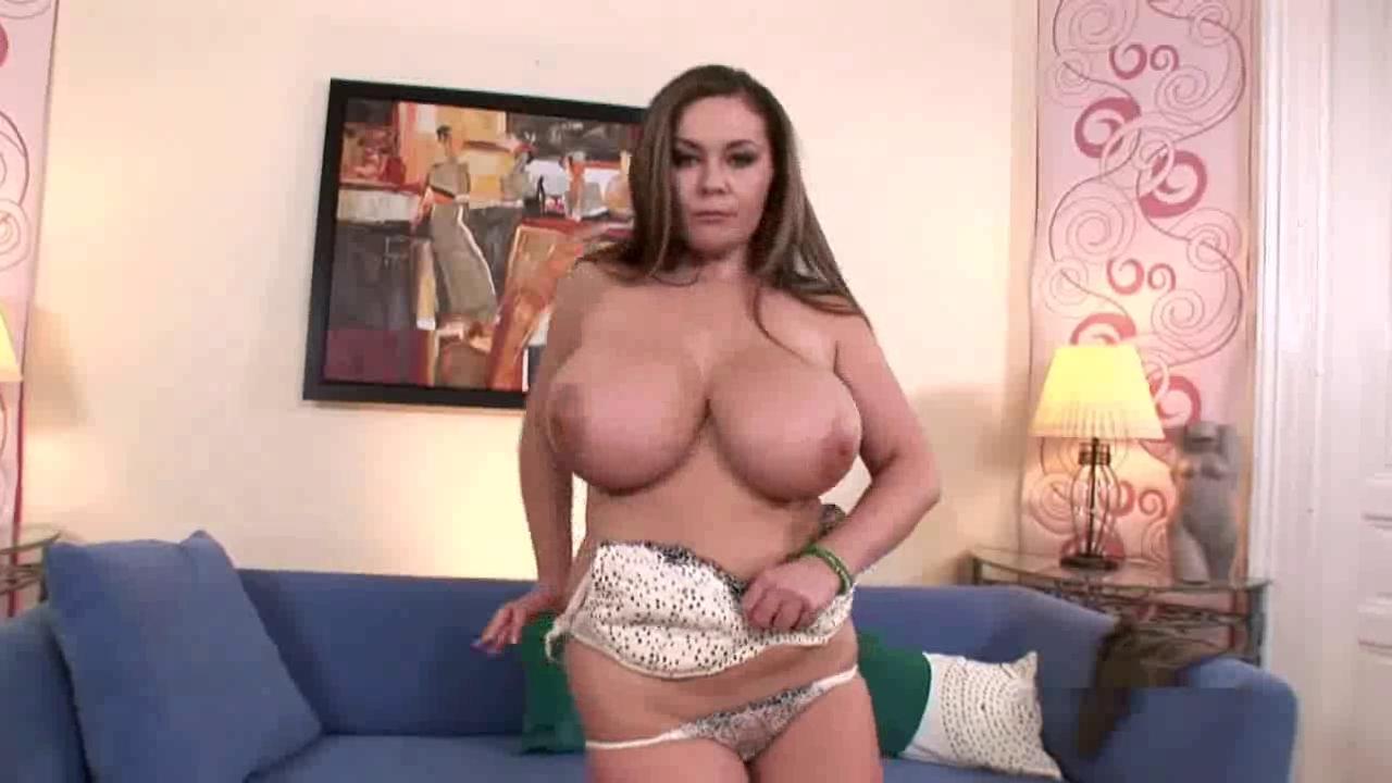 big beautiful woman Constance Devil shows her large love bubbles