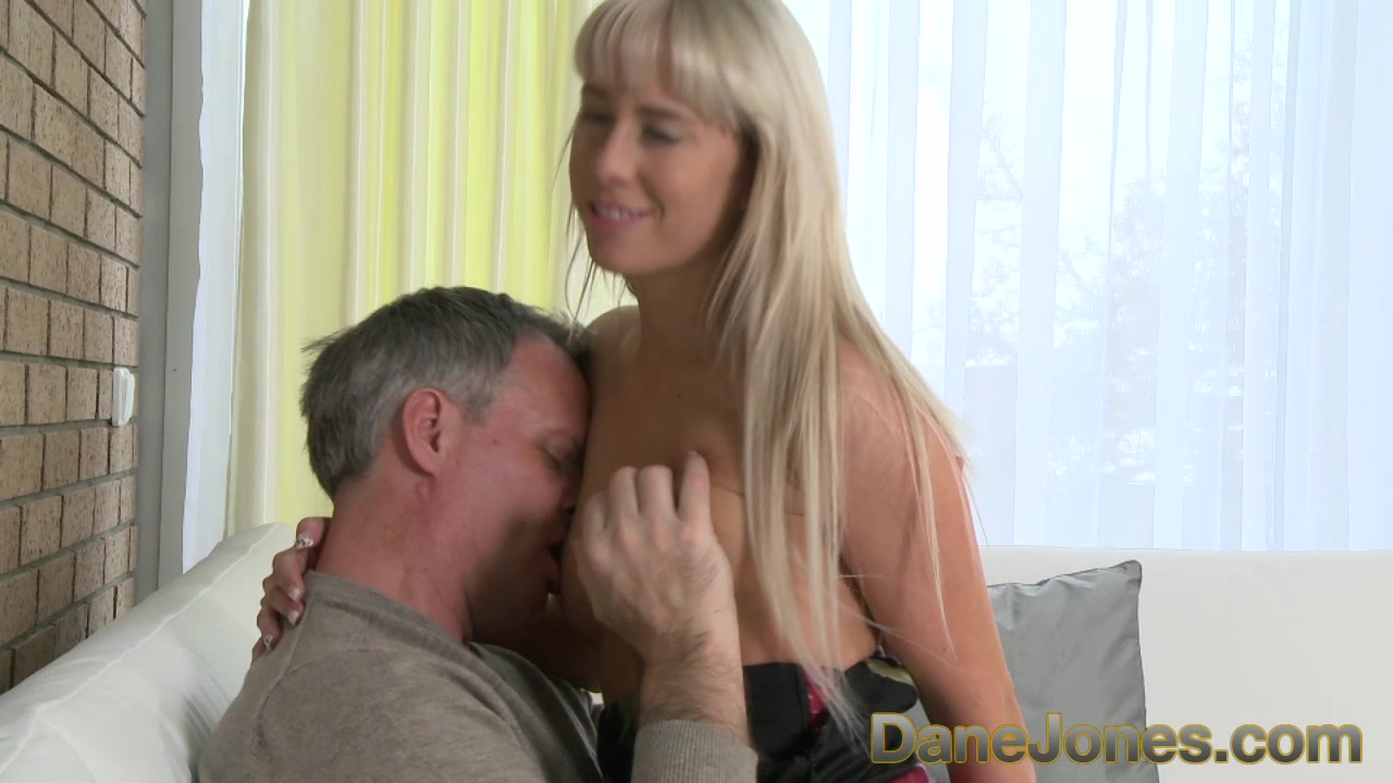 Hot young blonde makes his cock rock hard