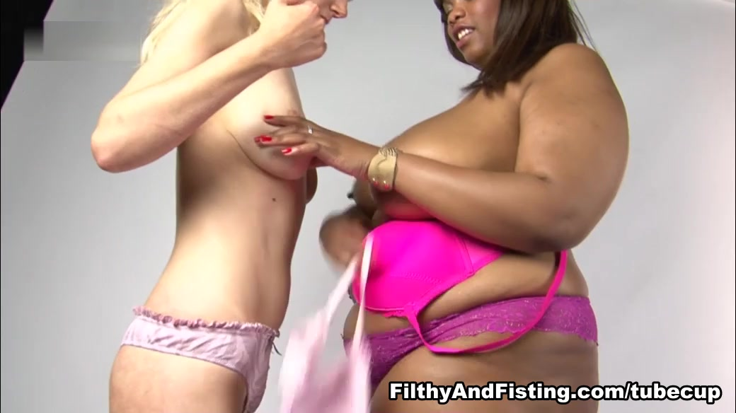 Busty Cookie & Paige Bailey in Brutal Interracial Fisting - FilthyAndFisting