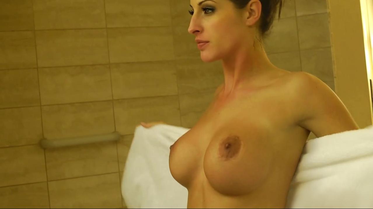 Kortney Kane showeing after having sex