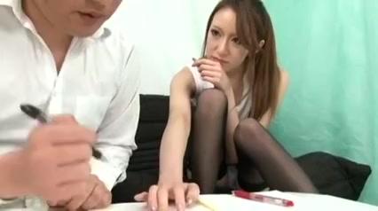 cute teacher handjob and footjob