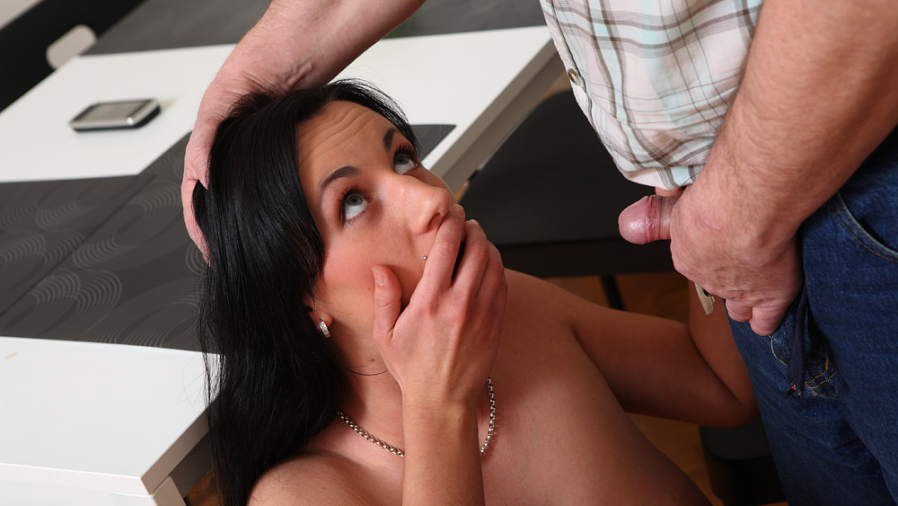 sexy girl has pussy eaten by older man she sucks cock and fucks while her boyfriend looks - oldgoesyoung