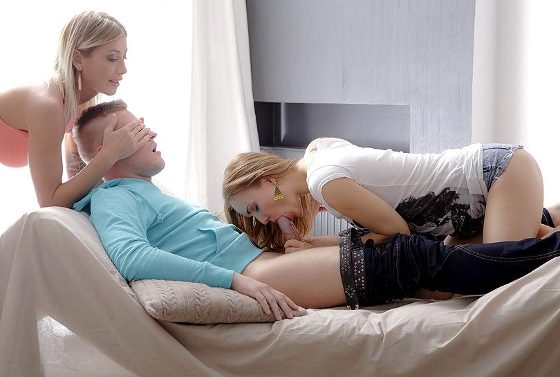 Vera & Julia in Sexy Vera has a threesome for her virgin sex - 18VirginSex