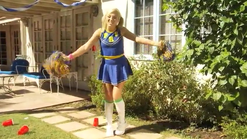 Blonde Cheerleader Ally Gets Fucked Jerks