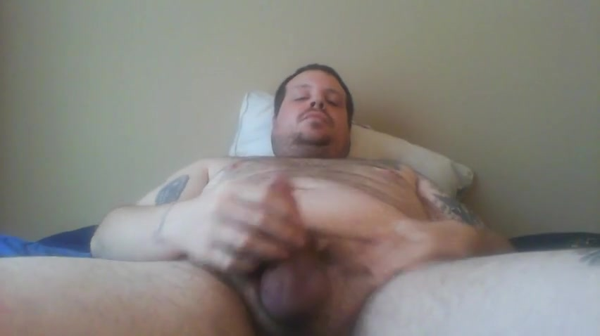 Fat chub bear Jack off and cum