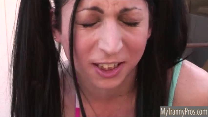 Tight ass TS Aly Sinclair hardcore cock sucking and anal sex