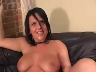 chick with big tits gets her throat fucked