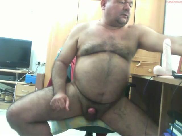 Naked Furry Bear Cums