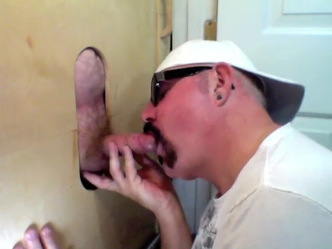 Buddy Gets First Time Gloryhole Blowjob - GloryholeHookups