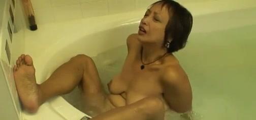 Lewd Oriental Granny Copulates her Vagina in the Hawt Tube